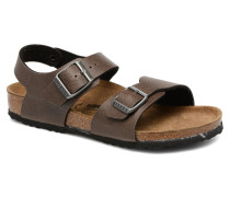 New York Birko Flor Sandalen in braun
