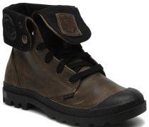 Baggy leather w Sneaker in grau