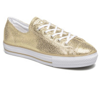 Ctas High Line Metallic Leather Ox Sneaker in goldinbronze