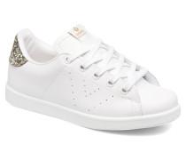 Deportivo Basket Piel Glitter Sneaker in weiß