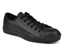 Chuck Taylor All Star Monochrome Leather Ox W Sneaker in schwarz