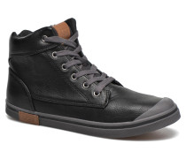 Damian Tumbled Sneaker in schwarz
