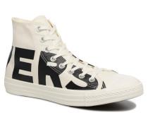 Chuck Taylor All Star Wordmark Hi Sneaker in weiß