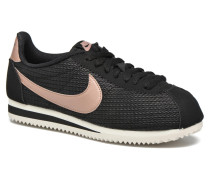 W Classic Cortez Leather Lux Sneaker in schwarz
