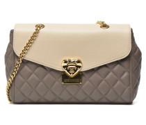 Quilted flap shoulder bag Handtaschen für Taschen in grau