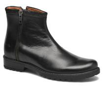 Stampa Zip Stiefeletten & Boots in schwarz
