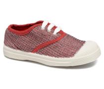 Tennis Fancy Linen E Sneaker in rot