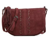 Japille Suede Crossbody Handtaschen für Taschen in weinrot