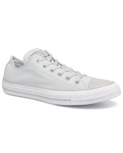 Chuck Taylor All Star Tipped Metallic Toecap Ox Sneaker in grau