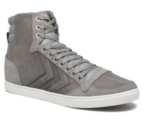 Ten Star Mono Oiled High Sneaker in grau