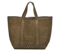 Cabas Etoile ajouré cuir velours Porté épaule M+ Handtaschen für Taschen in grün