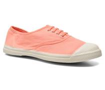 Tennis Lacets Sneaker in orange