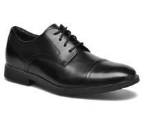 DM Modern Cap Toe Schnürschuhe in schwarz