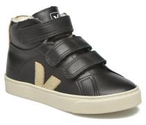 Esplar Mid Velcro Fured Sneaker in schwarz