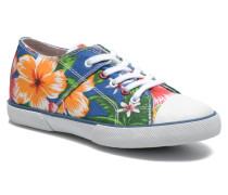 Little Tennis Flower Sneaker in blau