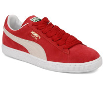Suede Classic + Sneaker in rot