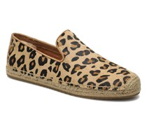 Sandrinne Calf Hair Leopard Espadrilles in braun
