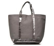 Cabas paillettes toile Porté main M Handtaschen für Taschen in grau