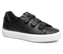Deportivo Piel Velcros Gliss Sneaker in schwarz