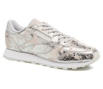 Cl Lthr Hype Metall Sneaker in silber