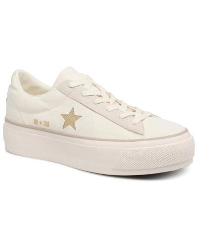 Converse Damen One Star Platform Ox Sneaker in weiß Online Ansehen Günstig Kaufen Breite Palette Von Auslass Ausgezeichnet Steckdose Authentisch Freies Verschiffen Neuestes dwCneR