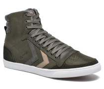 Ten Star Duo Oiled High Sneaker in grau