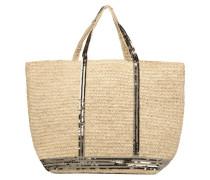 Cabas raphia paillettes L Handtaschen für Taschen in beige