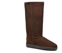 Tall Sheepskin Pug Boot W Stiefeletten & Boots in braun