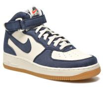 Air Force 1 Mid Sneaker in blau