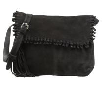 WANETA Crossbody Suede leather bag Handtaschen für Taschen in schwarz