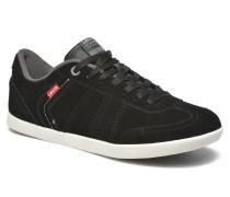 Loch Sneaker in schwarz