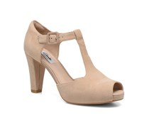 Kendra Flower Pumps in beige