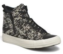 Ctas Selene Winter Knit Mid Sneaker in schwarz