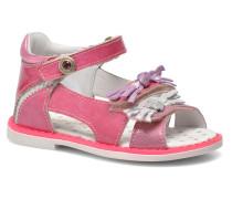 Chenille Sandalen in rosa