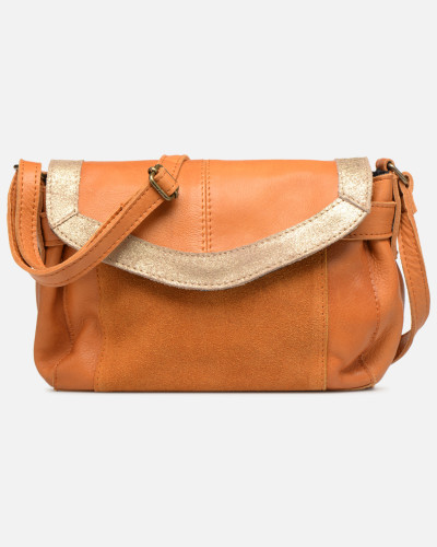 ISAURA LEATHER SMALL CROSSBODY Handtasche in braun
