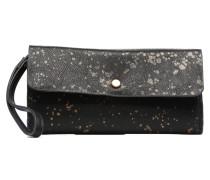 Reversible Metal Spleter Wallet Portemonnaies & Clutches für Taschen in schwarz