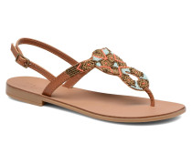 Carmen leather sandal Sandalen in braun