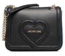 Crossbody Mix Materials Handtaschen für Taschen in schwarz
