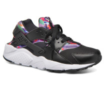 Huarache Run Print (Gs) Sneaker in schwarz
