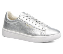 Lizette Lace Up Sneaker in silber