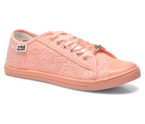 Derby strass Sneaker in rosa