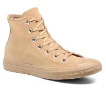 Chuck Taylor All Star Mono Plush Suede Hi Sneaker in beige