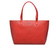 Embossed logo Cabas Handtaschen für Taschen in rot