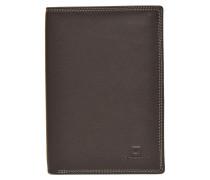 TOURAINE Portefeuille poche zip 2 volets Portemonnaies & Clutches für Taschen in braun