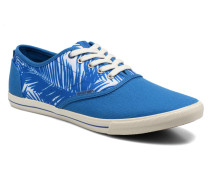 JJ Spider Canvas Palm Print Sneaker in blau