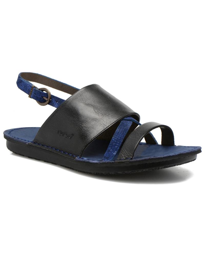 kickers damen kickers wawa sandalen f r damen blau reduziert. Black Bedroom Furniture Sets. Home Design Ideas