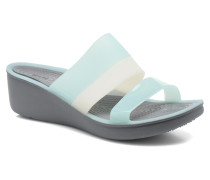 ColorBlock Wedge W Clogs & Pantoletten in blau