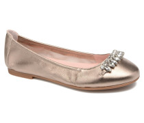 Diamon Ballerinas in goldinbronze