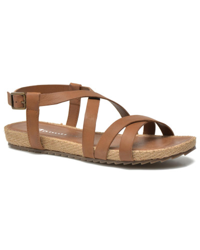 tamaris damen janusa sandalen in braun reduziert. Black Bedroom Furniture Sets. Home Design Ideas