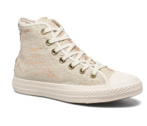 Chuck Taylor All Star Distressed Sequin Sneaker in beige